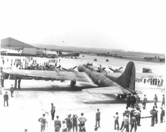 "B-17 Flying Fortress ""Memphis Belle"" would be stored at Altus Army Air Field after this tour was completed"