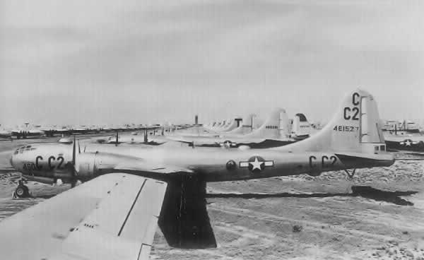 B-29 Superfortresses in storage at Pyote Air Force Base, 1946