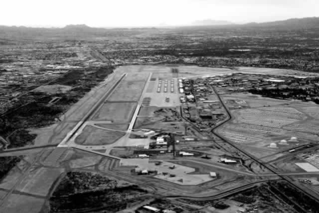 Aerial view of Davis-Monthan Air Force Base