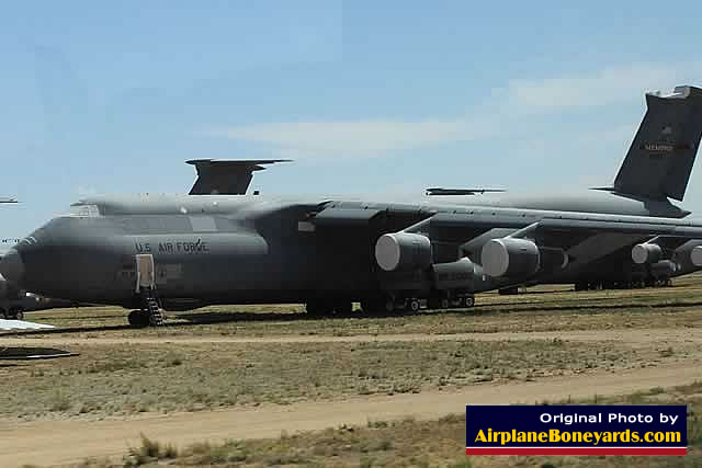 USAF C-5 Galaxy transport in storage at Davis-Monthan's AMARG facility