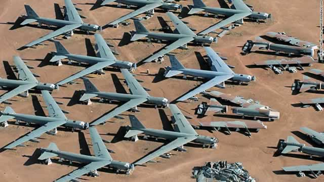 USAF Boeing B-52 Stratofortresses at Davis-Monthan AFB being reclaimed