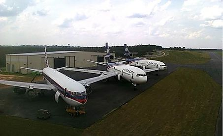 Airliners in storage at Bob Sikes Airport in Crestview, Florida