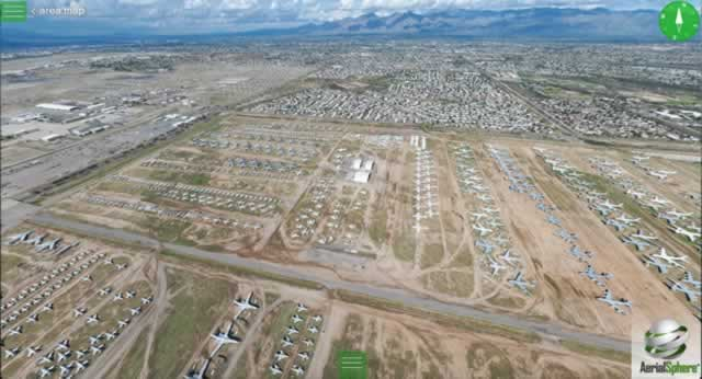 360 degree VR Aerial Views of Davis-Monthan AMARG courtesy of AerialSphere, LLC