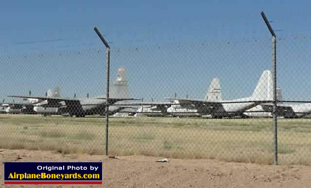 C-130 aircraft at Davis-Monthan AFB AMARG in October, 2012