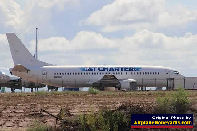 C&T Charters Boeing 737 parked at the Phoenix Goodyear Airport in Arizona
