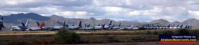 A place where old airplanes go to die ... an airplane boneyard, shown here is the Phoenix Goodyear Airport in Arizona