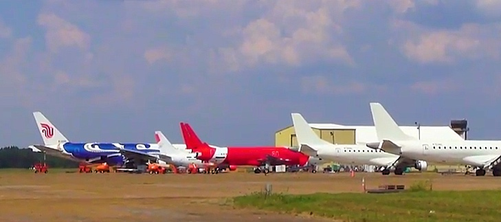 Airliner disassembly facility at the Greenwood-Leflore Airport in Mississipp