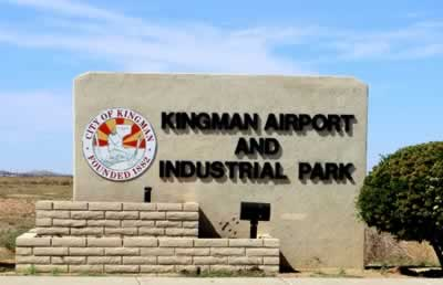 Entrance to Kingman Airport and Industrial Park
