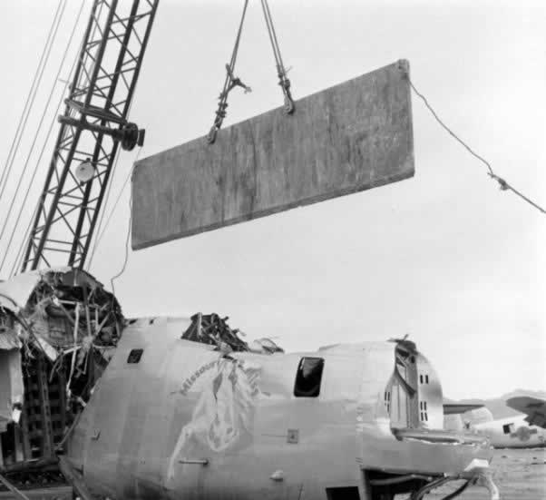 "B-24 Liberator ""Missouri Miss"" meets the guillotine at Kingman Army Air Field"