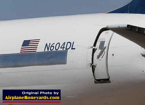 Delta Air Lines Boeing 757-232 N604DL in storage at the Pinal Airpark in Arizona
