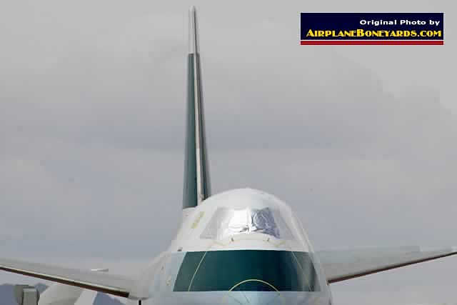 Nose view of Boeing 747 at the Pinal Airpark in Arizona