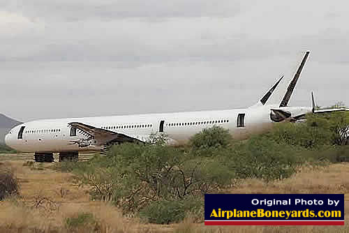 Airbus airliner being scrapped at the Pinal Airpark in Arizona