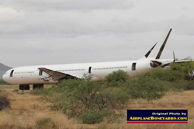 Airbus airliner being scrapped at the Pinal Airpark in Arizona (May 2015)