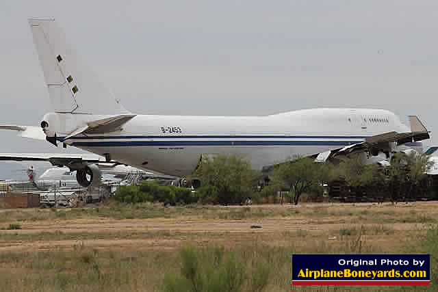 Boeing 747-400 BCF, B-2453, on the apron at the Pinal Airpark in Arizona