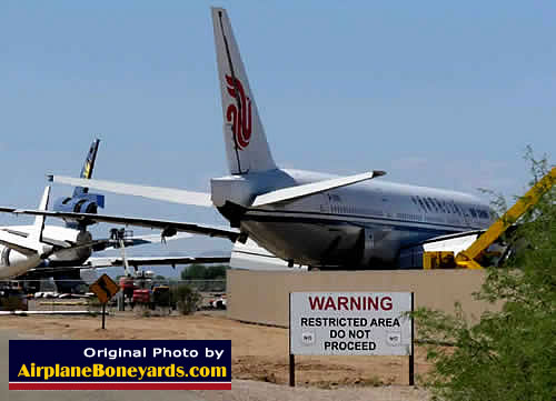 Restricted area at the Pinal Airpark in Arizona