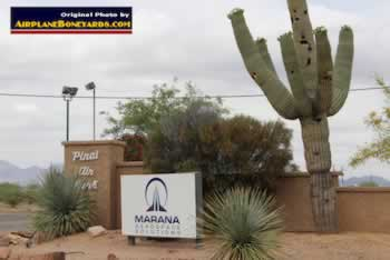 Entrance area to the Pinal Airpark in Arizona