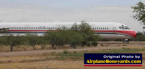 Ex China Eastern Airlines McDonnell Douglas MD-82 at the Pinal Airpark in Arizona