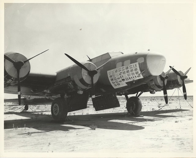 "B-17 Flying Fortress ""Swoose"" in storage at Pyote post-WWII"