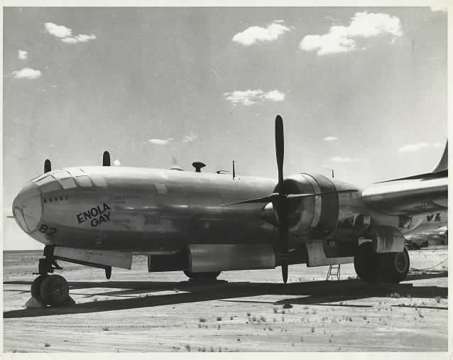 "B-29 Superfortress ""Enola Gay"" in storage at Pyote post-WWII"