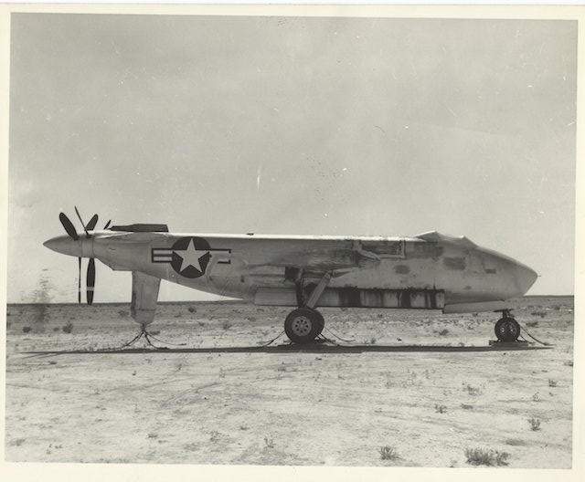 Douglas XB-47 in storage at Pyote post-WWII