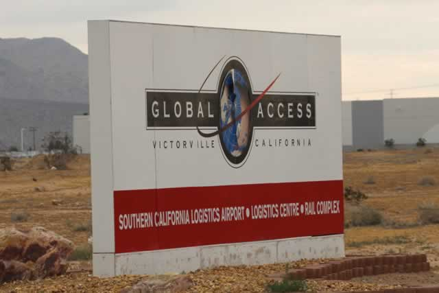 Entrance area at the Southern California Logistics Airport, Logistics Centre and Rail Complex