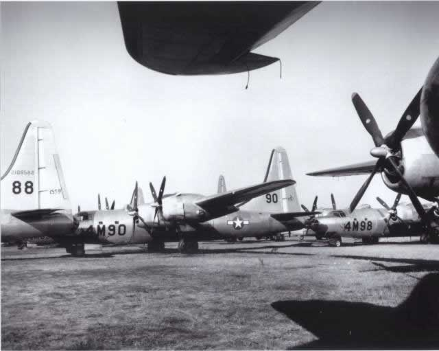ConvairB-32 Dominator bombers stored at Walnut Ridge, Arkansas, after World War II