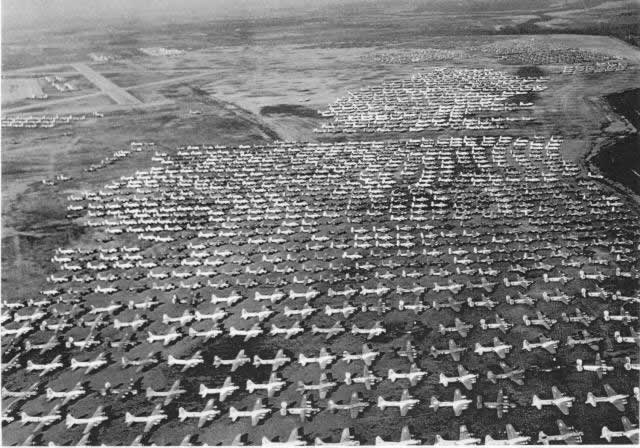 Aerial view of Walnut Ridge, Arkansas, in November, 1945