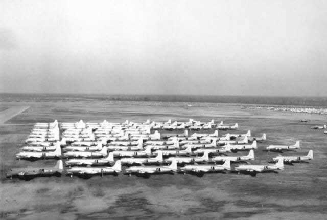 C-54 transport aircraft stored at Walnut Ridge, Arkansas, after World War II