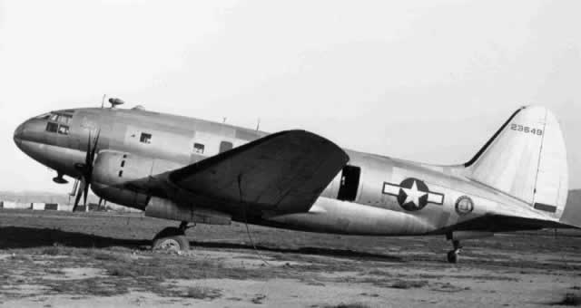 Curtiss C-46A Commando, S/N 42-3649, for sale at Cal-Aero Field, California, post-WWII